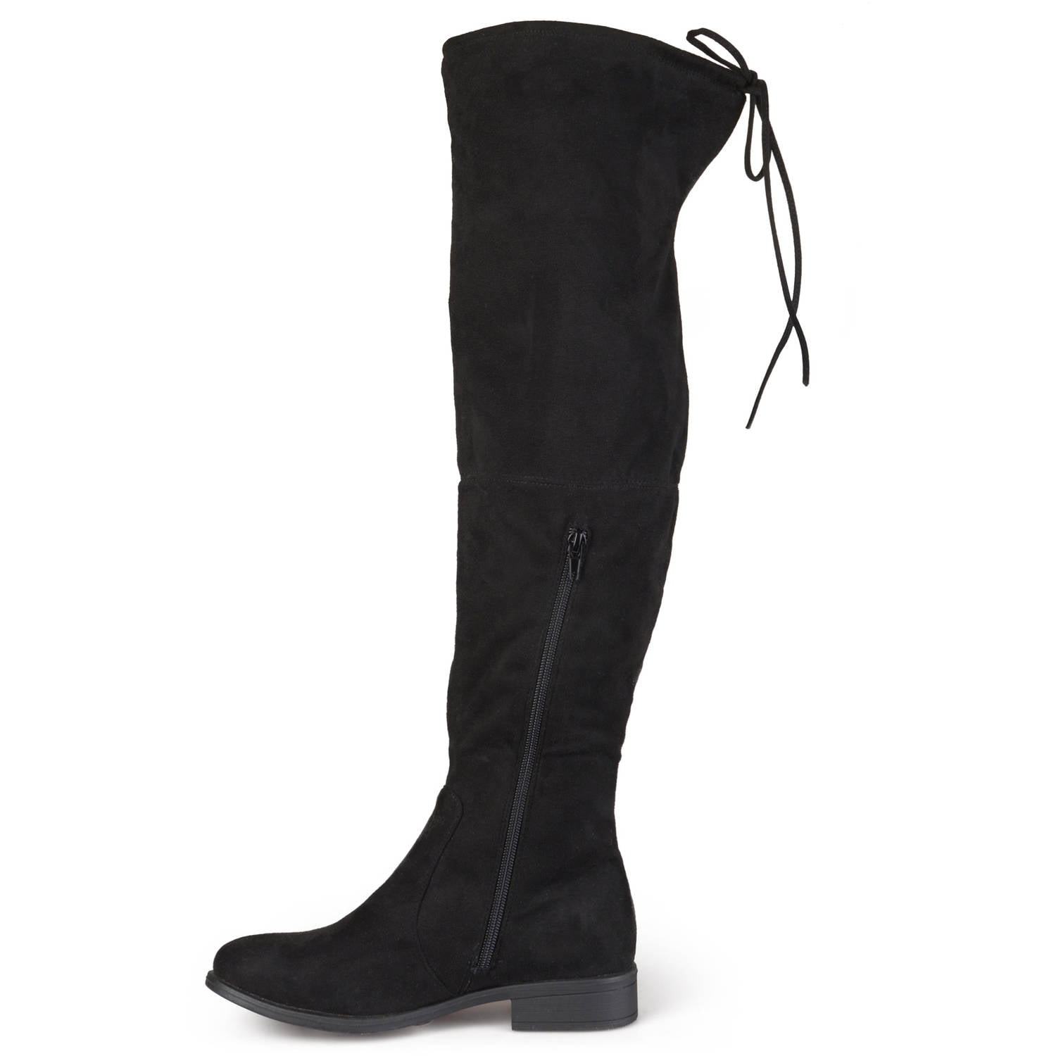 Brinley Co. Womens Wide Calf Faux Suede Over-the-knee Boots ...