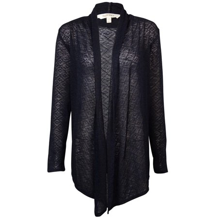 Ellen Tracy Women's Sheer Long Sleeves Knit Cardigan - Walmart.com