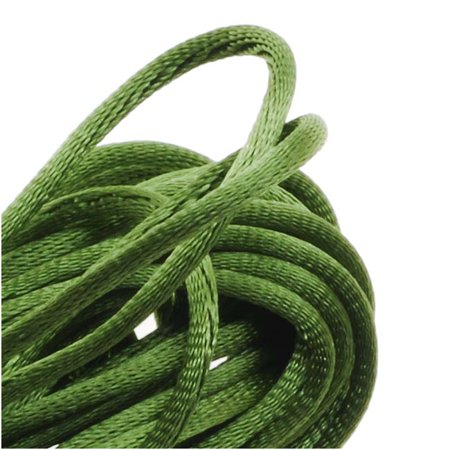 Rayon Satin Rattail 1mm Cord - Knot & Braid - Olive Green (6 Yards) (Satin Olive)