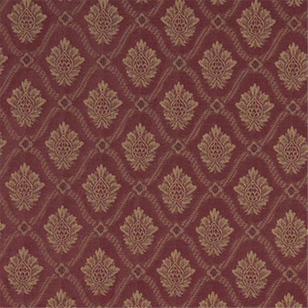 Designer Fabrics A489 54 inch Wide Burgundy And Gold Two Toned Brocade Medallion Upholstery Fabric