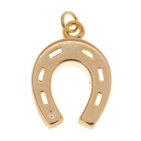 - 22K Gold Plated Lucky Horseshoe Charm 19mm (1)
