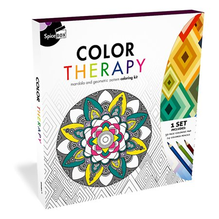 SpiceBox Color Therapy Anti Stress Adult Coloring Kit