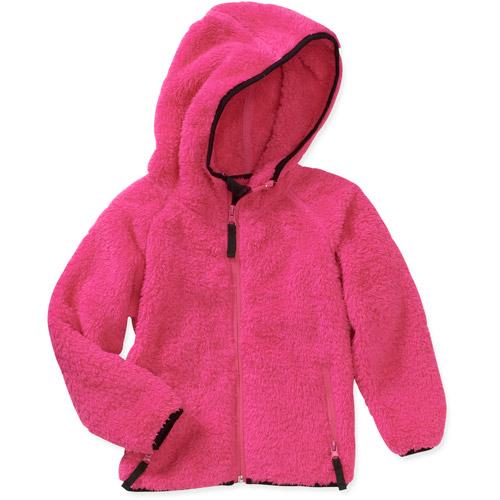 Baby Girls - Double Sided Fleece Zip Hoo