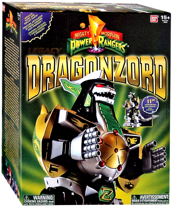 Power Rangers Legacy Series Legacy Green Dragonzord Action Figure by Bandai