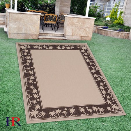 Handcraft Rugs Indoor Outdoor Area Rug With Palm Trees