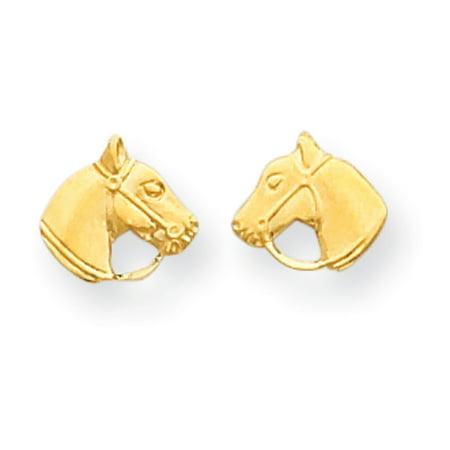 14k Yellow Gold Horse (14k Yellow Gold Children's Horse Head Post)
