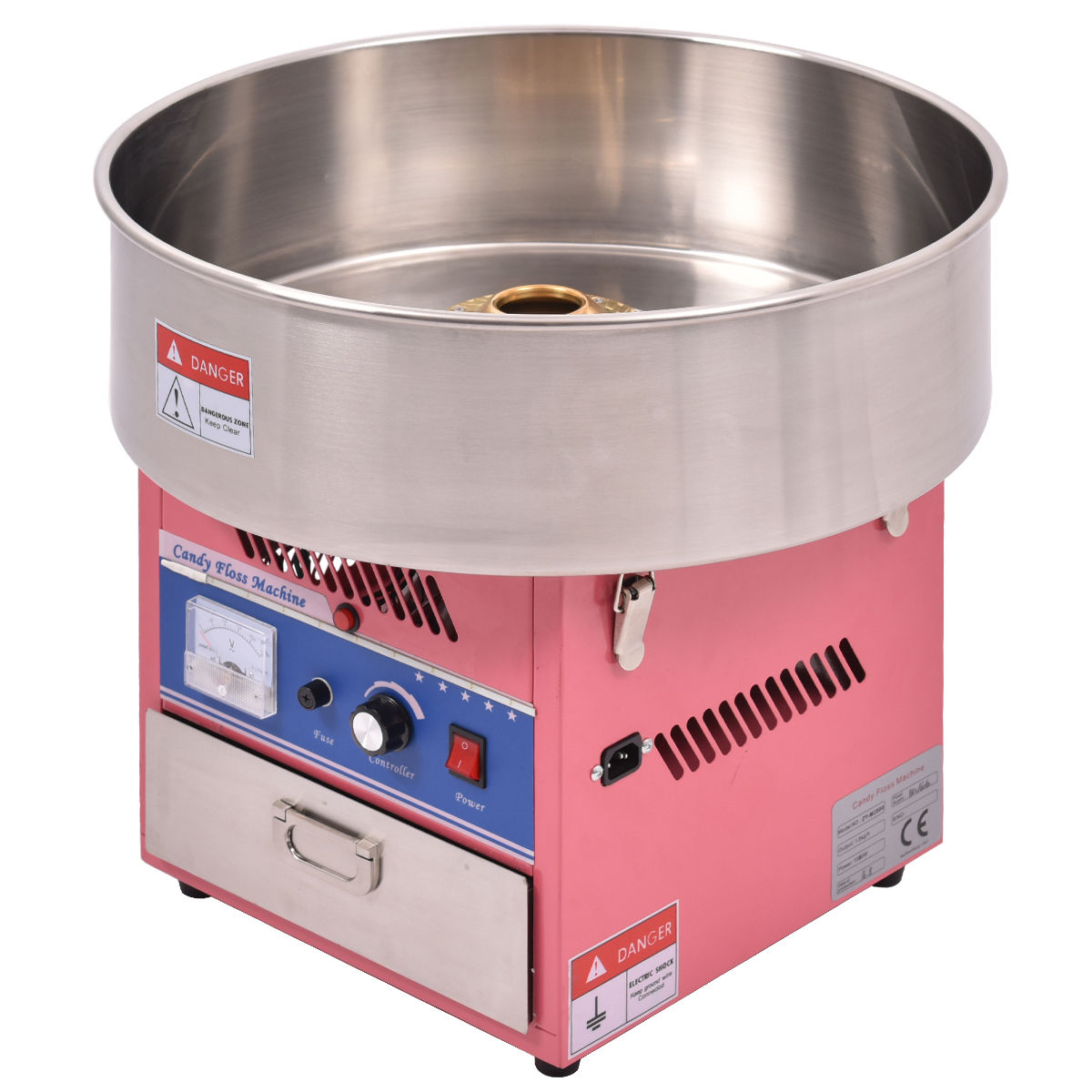 costway electric cotton candy machine floss maker commercial carnival party pink - Cotton Candy Machines