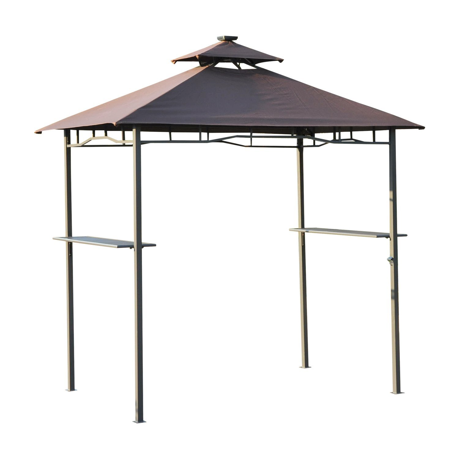 Outsunny 8 ft. 2-Tier Outdoor LED Grill Gazebo by Aosom LLC