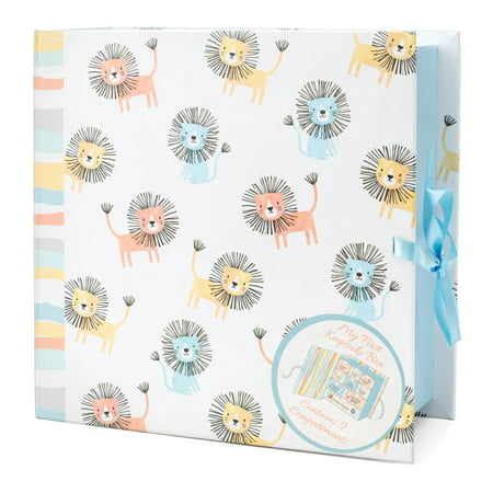 Tricoastal Design- Printed Baby Keepsake Box Baby Lions - Baby Keepsake Chest