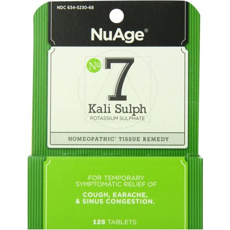 Image of Hylands #7 Kali Sulphate Tablets, 125 CT (Pack of 2)