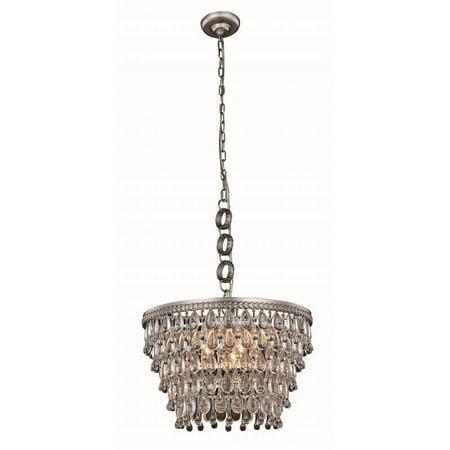 "Elegant Lighting Nordic 19"" 5 Light Royal Crystal Pendant Lamp - image 1 de 1"