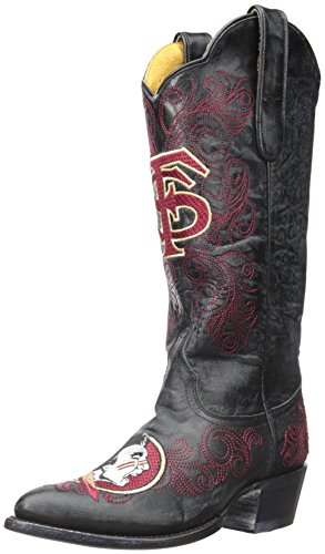 NCAA Florida State Seminoles Women's 13-Inch Gameday Boots, Black, 5.5 B (M) US by Gameday Boots
