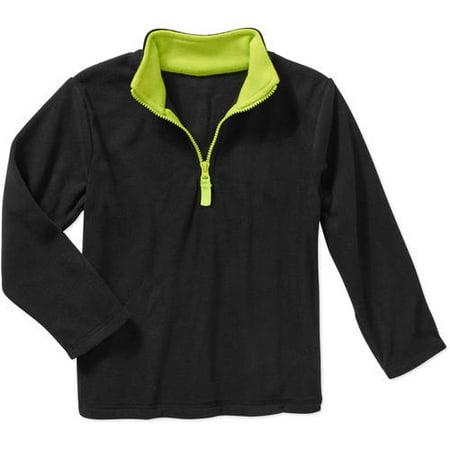 Garanimals Girls Boys Micro Fleece 1 4 Zip Pullover Jacket  7  1 4 Zip Black
