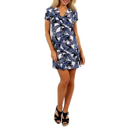 24/7 Comfort Apparel Women's Blue Sky Minidress