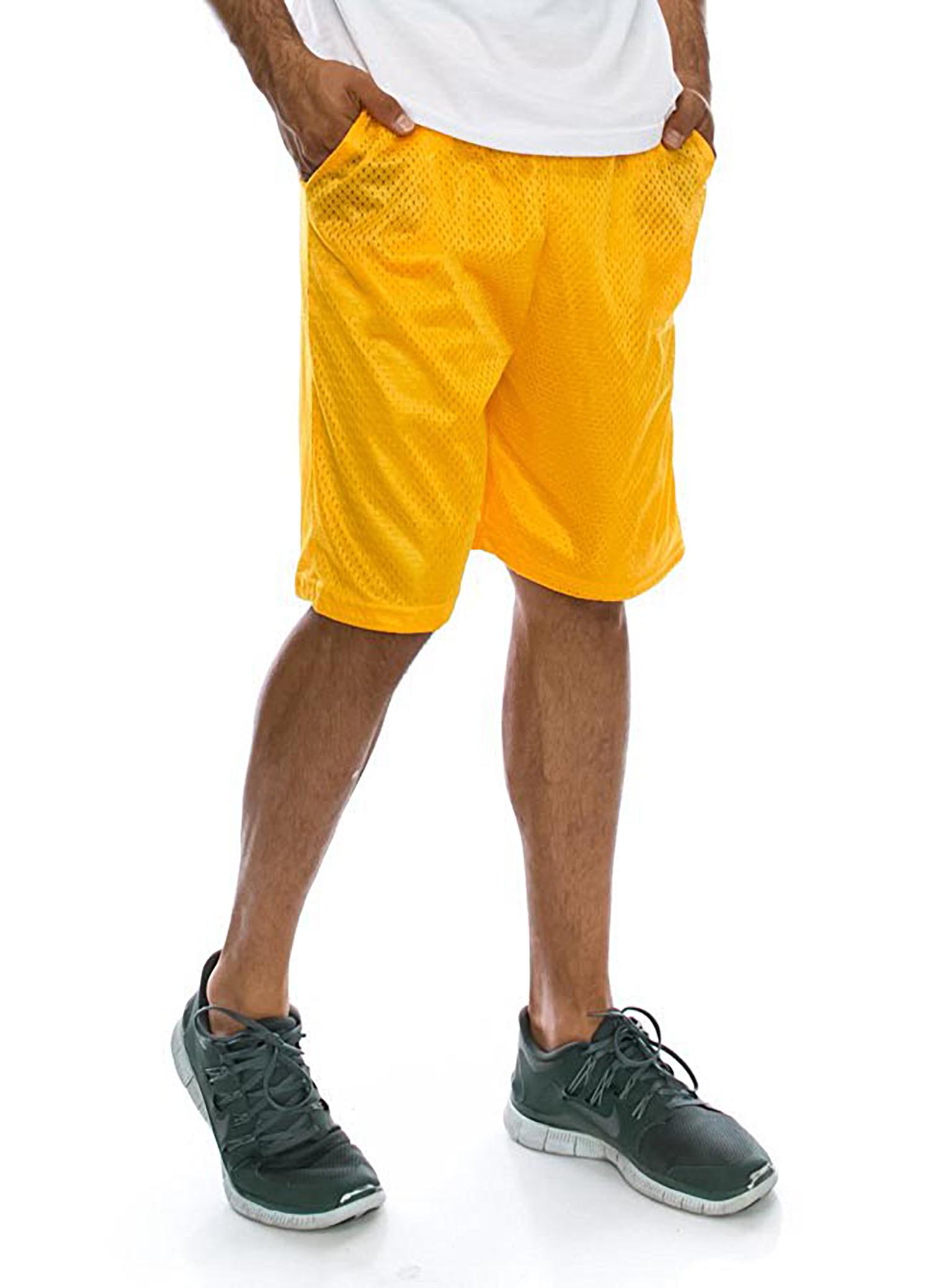 Men's Mesh Basketball Shorts with Pockets Big and Tall Sportswear