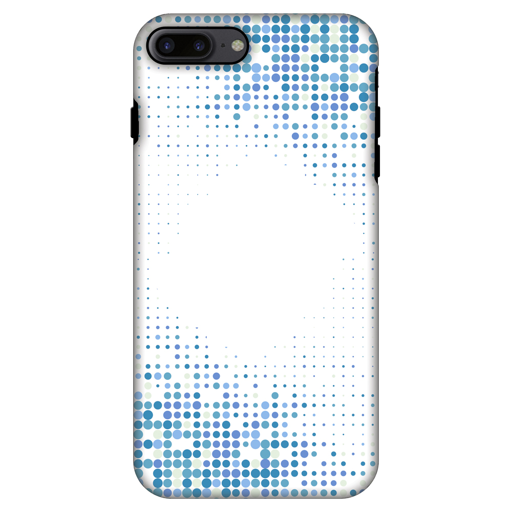 iPhone 7 Plus Case, Premium Handcrafted Printed Designer 2 in 1 Dual Layer ShockProof Case Back Cover for iPhone 7 Plus - Blue Matrix