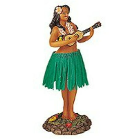 leilani dashboard hula doll playing ukulele green 7