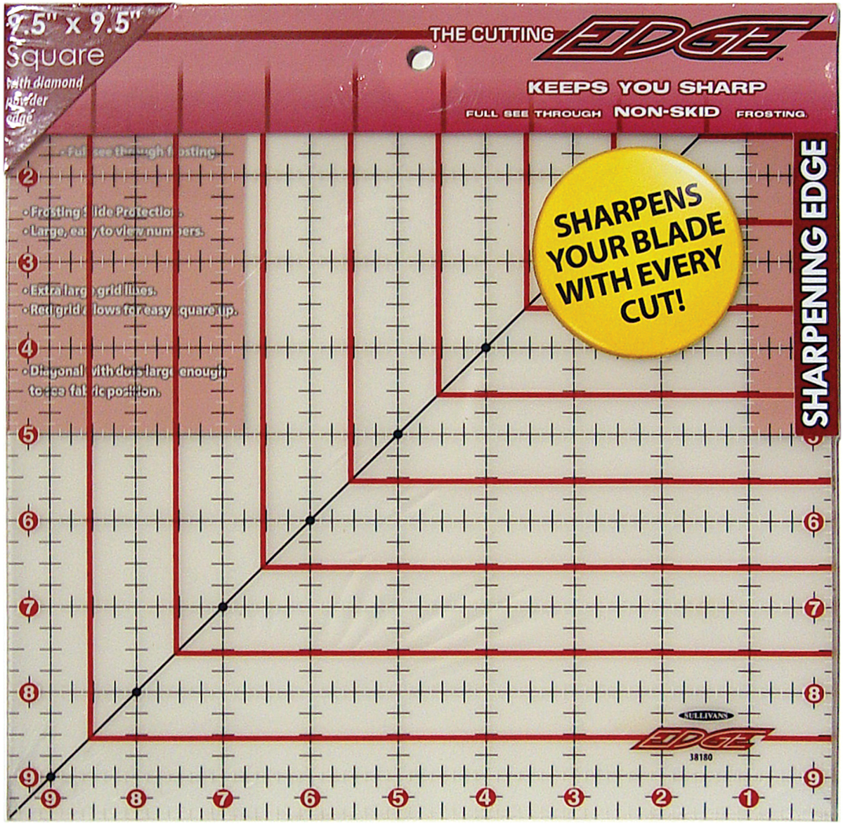"""The Cutting EDGE Frosted Ruler-9-1/2""""X9-1/2"""" - image 1 of 1"""