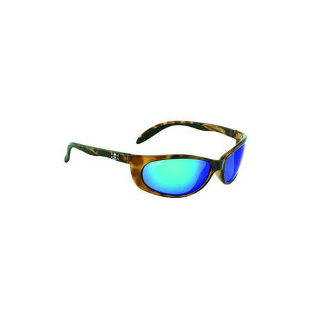Calcutta SK1BMTORT Smoker Sunglasses, Tortoise Frame, Blue Mirror Lens (Blue Tortoise Shell Glasses)