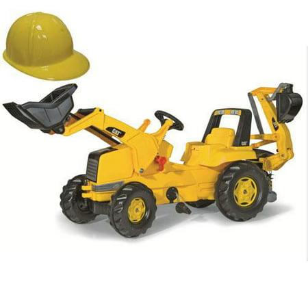 Kettler 813001 CAT Frontloader with Backhoe   Yellow Plastic Construction Helmet