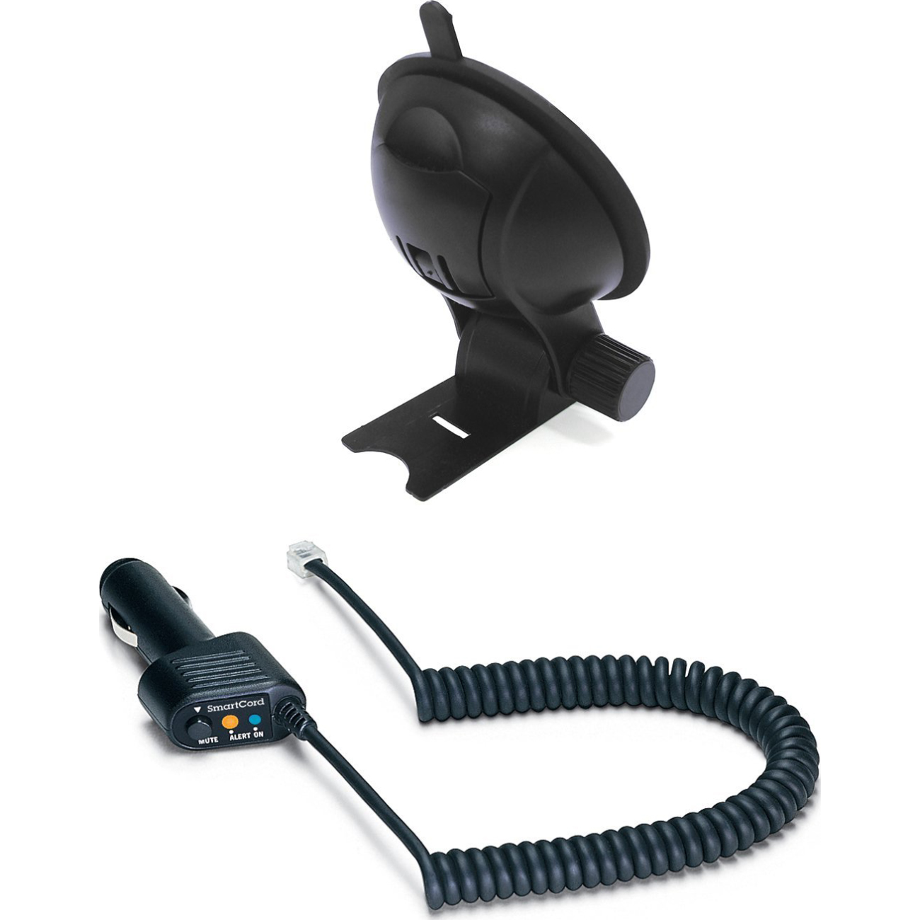 Escort Accessories Combo with StickyCup Mount and Deluxe SmartCord (Blue Light)