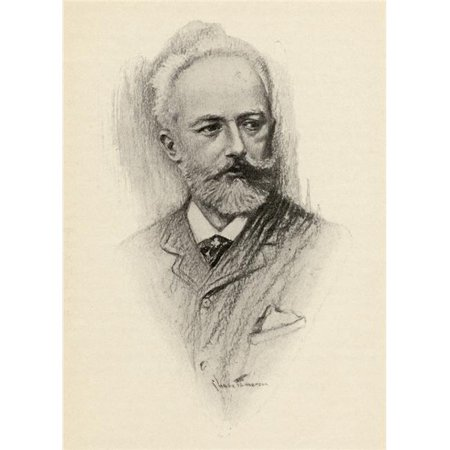 Posterazzi DPI1838795LARGE Pyotr Ilyich Tchaikovsky 1840-1893 Russian Composer Portrait by Chase Emerson American Artist 1874-1922 Poster Print, Large - 26 x -