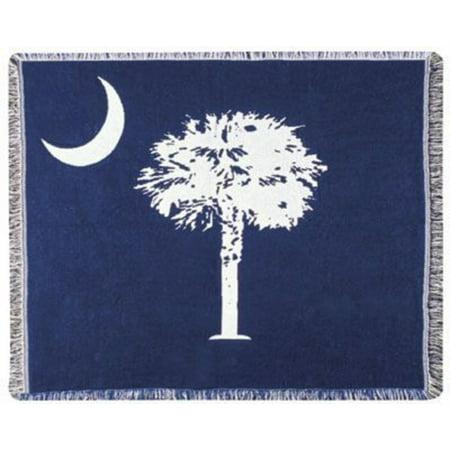 Palmetto State Flag South Carolina Tapestry Throw Blanket 50  X 60