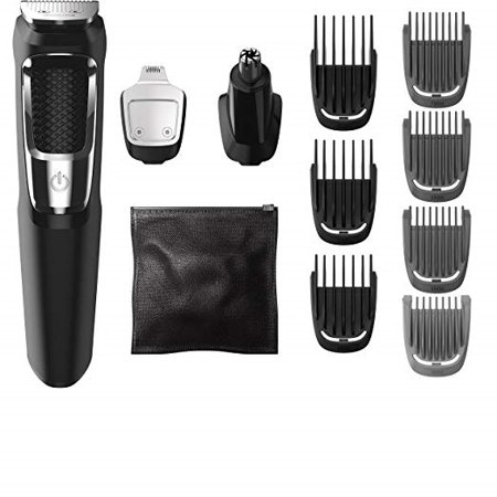 Item is Philips Multi Groomer - 13 piece, beard, face, nose, and ear hair trimmer and clipper,