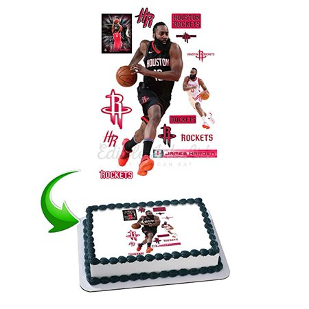 James Harden Edible Image Cake Topper Icing Sugar Paper A4 Sheet Edible Frosting Photo Cake 1/4 ~ Best Edible Image for (Best Wedding Cake Frosting)