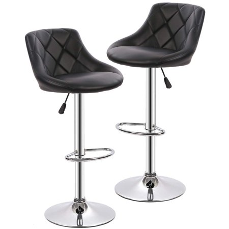 Bar Stools Barstools Swivel Stool Set of 2 Height Adjustable Bar Chairs with Back PU Leather Swivel Bar Stool Kitchen Counter Stools Dining -