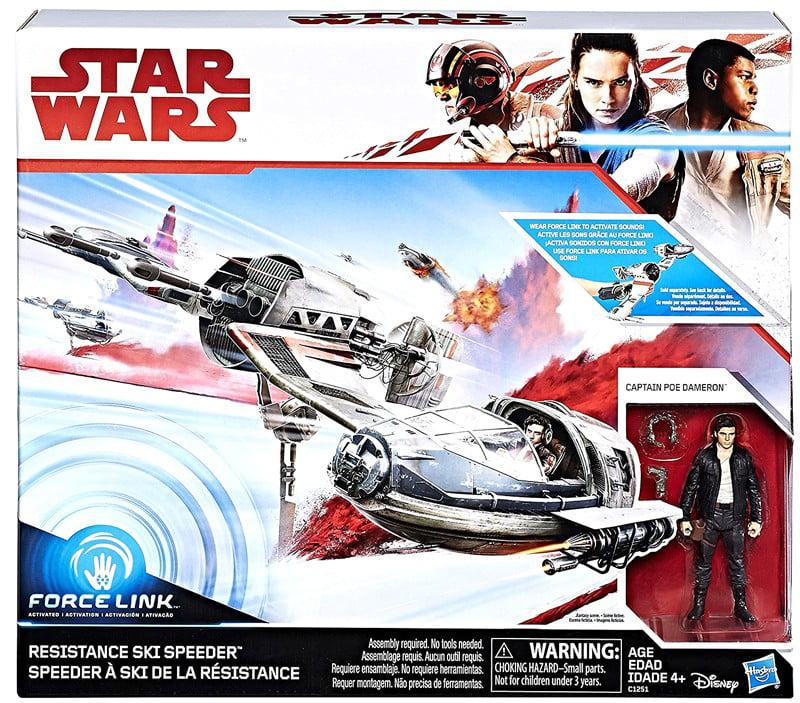 Star Wars Force Resistance Ski Speeder and Captain Poe Dameron Figure by Hasbro