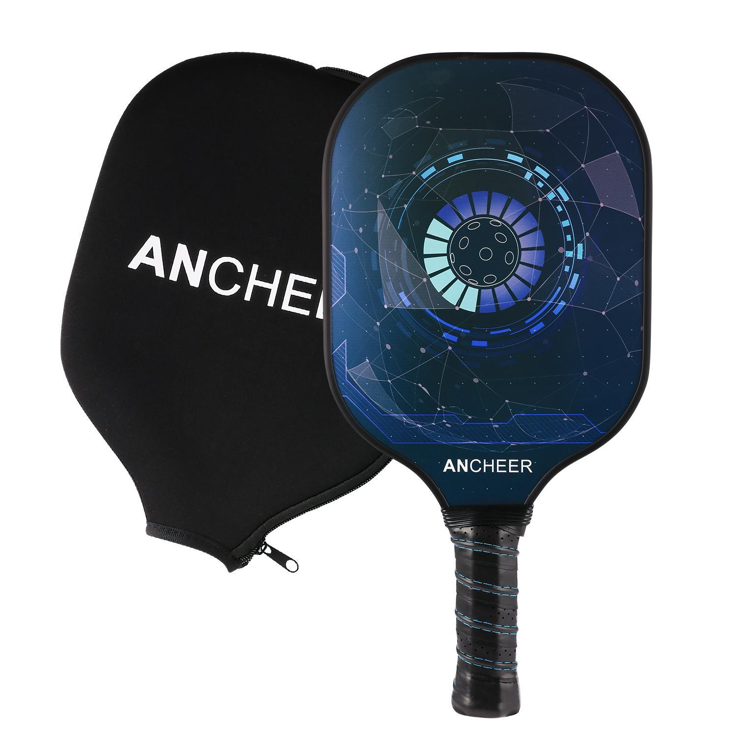 Carbon Fiber Pickleball Racket PP Polymer Honeycomb Composite Core Pickleball Paddle Set WSY