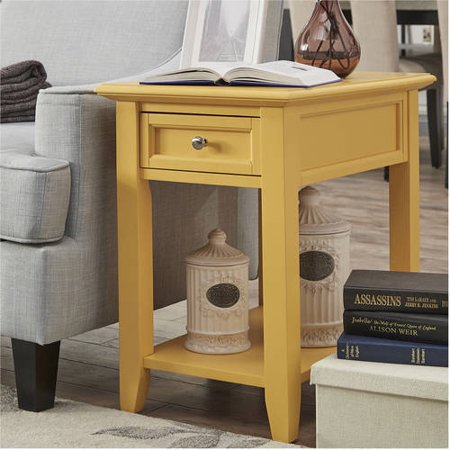 Chelsea Lane End Table With Power Outlet Multiple Colors Walmart Com