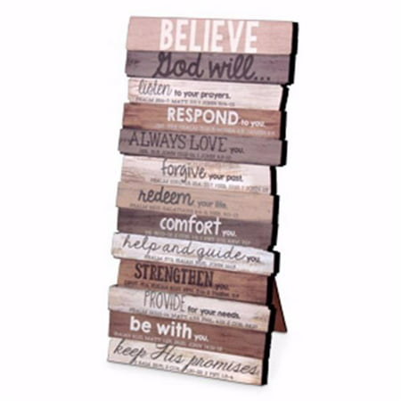 Lighthouse Christian Products 184295 Wall Plaque-Believe - 10 x 5-MDF Wood - No. 45018 - image 1 de 1