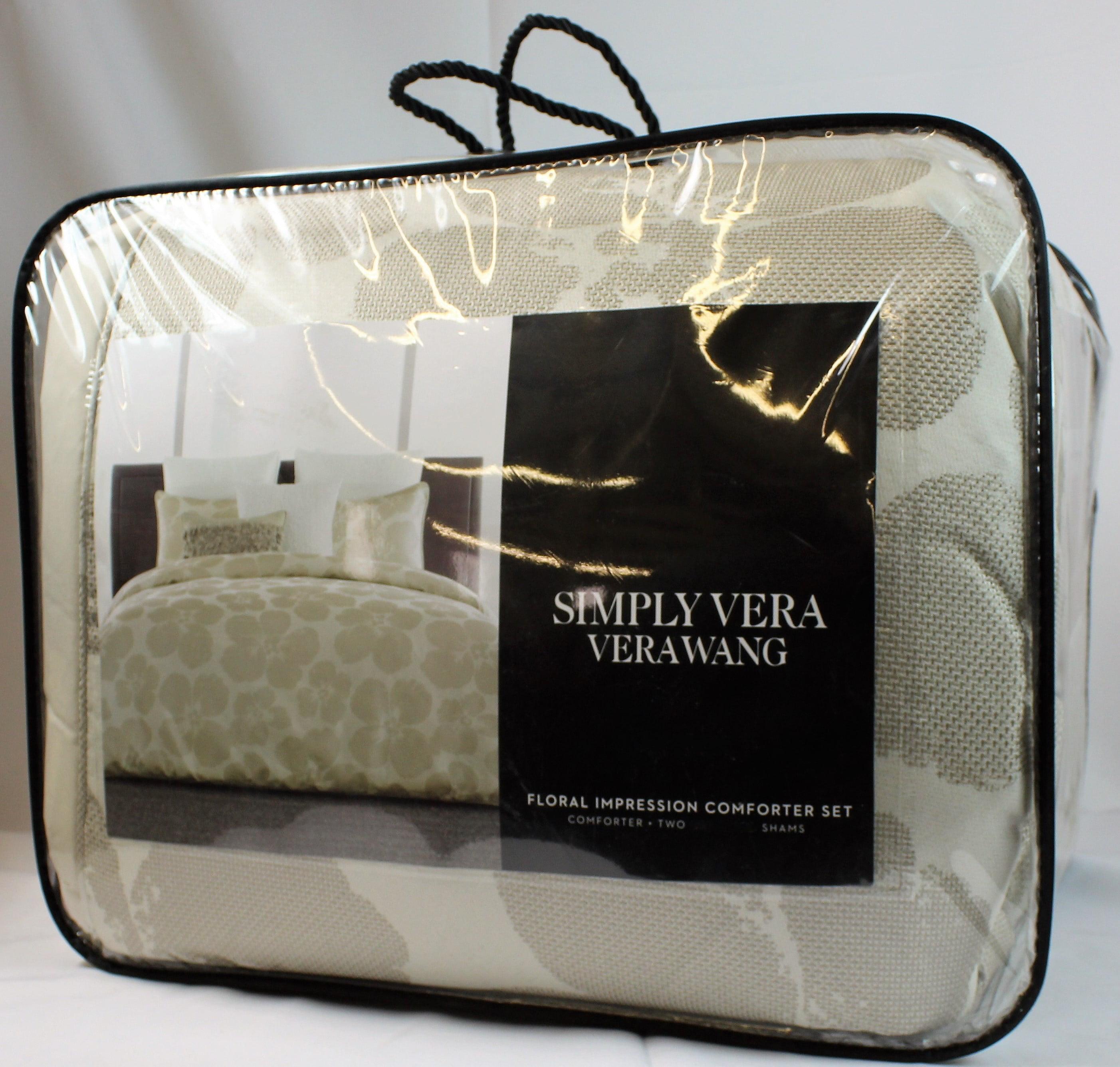 Simply Vera Vera Wang (Queen Floral impression comforter set)