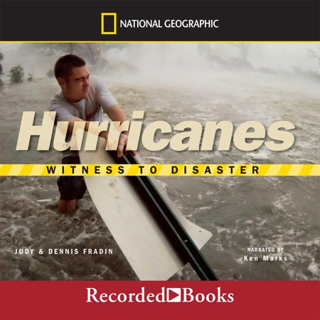 Witness to Disaster - Audiobook Filled with real accounts of the devastating power of hurricanes, this book takes readers into the eye of the storm-where it may be calm, clear, and sunny, but surrounding you on all sides are black clouds and rampaging winds. Here, you'll come face-to-face with some of the greatest hurricanes in history through firsthand accounts from people who survived these destructive storms. You'll see the frightful sights and hear the roaring sounds these witnesses experienced during their harrowing ordeals. Along the way, you'll also learn about the science of storms, including how they are formed and what conditions help them grow into such monsters. In particular, the category-five fury of Hurricane Katrina is fully documented. This exciting book from National Geographic features the stories of men, women, and children who have felt the awe-inspiring force of 190-mile-per-hour winds and lived to tell about it. Prepare to be astonished!