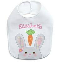 Personalized Girl Bunny Bib