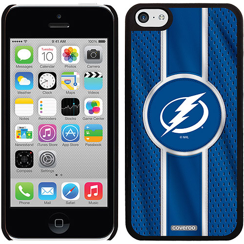Tampa Lightning Jersey Stripe Design on iPhone 5c Thinshield Snap-On Case by Coveroo