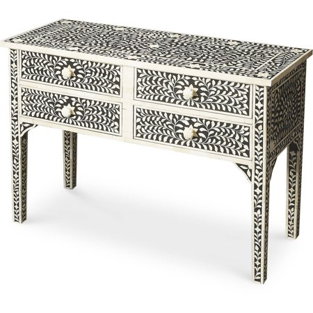 Butler Black Bone Inlay Console Table
