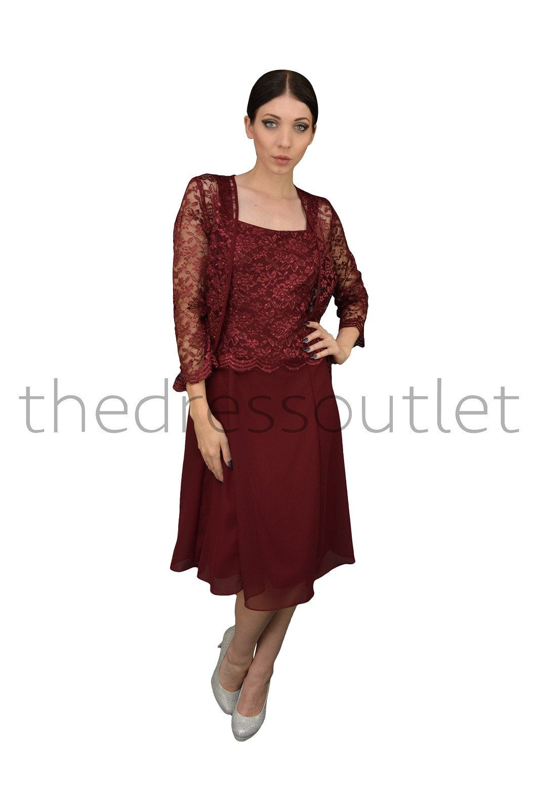 acf1723f96a The Dress Outlet - Short Mother Of The Bride Dress With Jacket 2019 -  Walmart.com