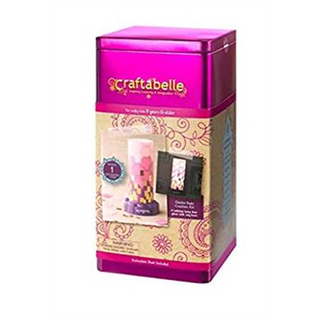 Arts And Crafts Lamps - Craftabello - Ombre Fade Creation Kit - Tabletop Lamp that Glows- Create Your Own Arts & Craft Lamp