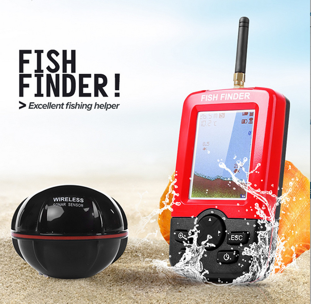 Smart Portable Depth Fish Finder With 100M Wireless Sonar Echo Sounder Fish Find
