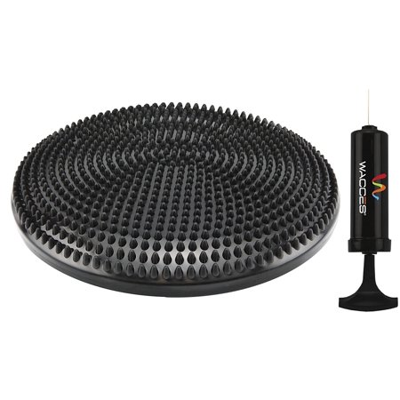 Wacces Inflatable Balance Disc, Stability Wobble Cushion Board for Exercise Fitness Core Balance Disc with Hand Pump, 13