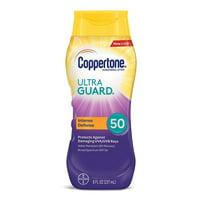 Coppertone Ultra Guard Sunscreen Lotion Broad Spectrum SPF 50, 8 Fluid Ounces