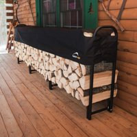 Firewood Rack-in-a-Box Heavy Duty Rack with Cover, 12'