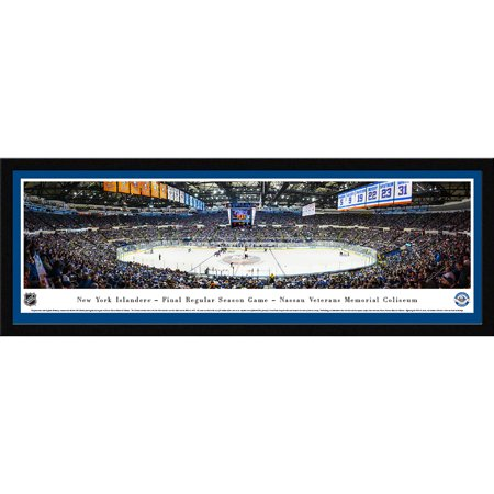New York Islanders Final Game at Nassau Coliseum Blakeway Panoramas NHL Print with Select Frame and Single Mat by