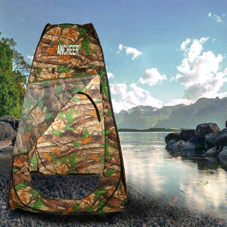 Print Polyester Portable Shower Changing Tent Camping Toilet Pop Up Room Privacy Outdoor W Bag