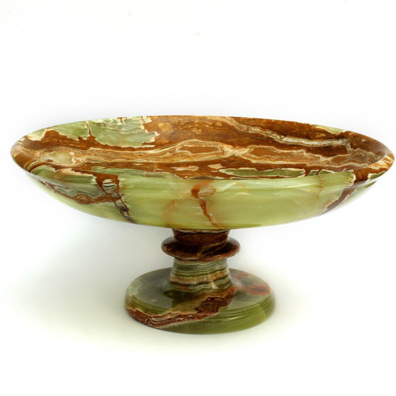 Natures Artifacts Multi Green Onyx Decorative Pedestal Fr...