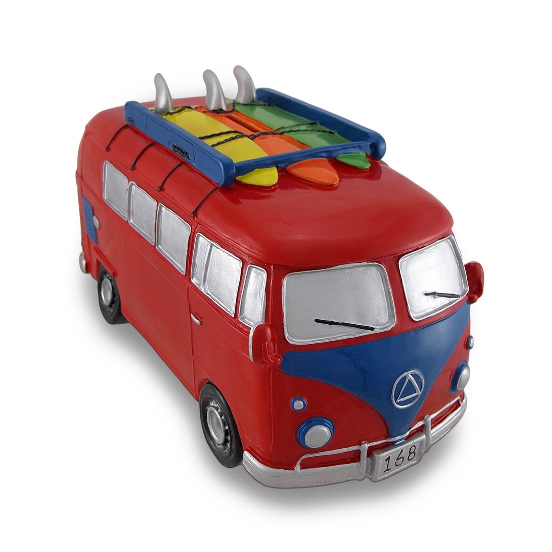 Red   Blue Surfer Van Large Piggy Bank Bus by King Max