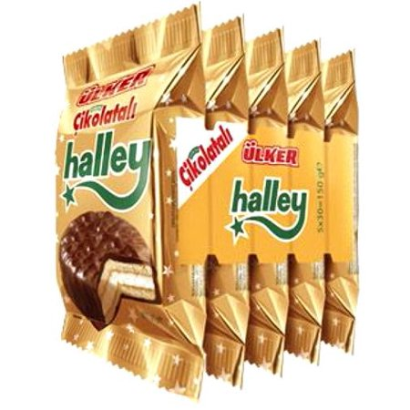 Ülker Chocolate Cookies with Marshmallow - 5.3oz- 5 Pack](Halloween Chocolate Dipped Marshmallows)